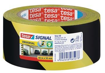 Tesa ruban de signalisation, Signal Universal, ft 50 mm x 66 m, jaune/noir