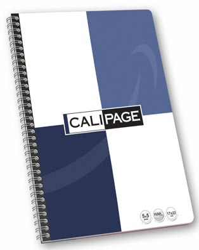 Calipage cahier à reliure spirale ft 17 x 22 cm, 100 pages