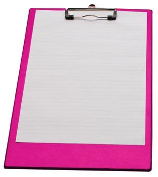 LPC klemmap voor ft folio/A4, neonroze