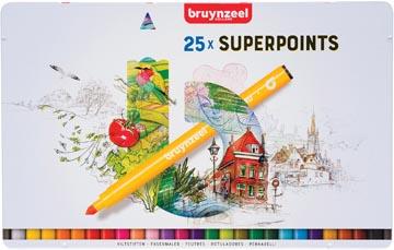 Bruynzeel feutre Expression, boîte de 25 pièces