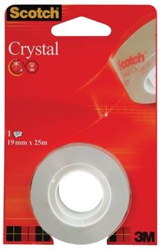 Scotch Ruban adhésif Crystal ft 19 mm x 25 m, blister avec 1 rouleau