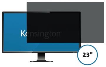 Kensington privacy filter, dubbelzijdig, verwijderbaar, voor schermen van 23 inch, 16:9