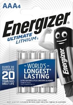 Energizer piles Lithium AAA, blister de 4 pièces