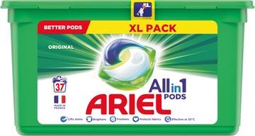 Ariel 3 en 1 lessive dosettes Original, boîte de 37 pièces