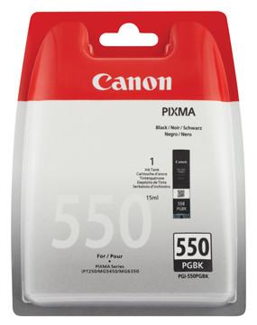 Canon inktcartridge PGI-550PGBK, 300 pagina's, OEM 6496B004, op blister, zwart