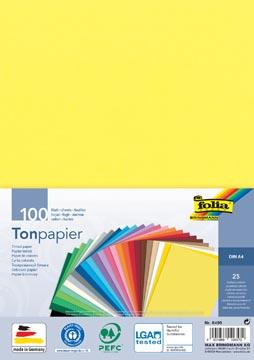 Folia gekleurd tekenpapier, ft A4, pak van 100 vel in 25 geassorteerde kleuren