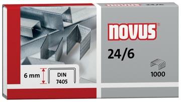 Novus agrages 24/6 DIN, boîte de 1000 agrafes