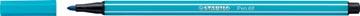 STABILO Pen 68 viltstift, lichtblauw