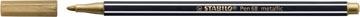 STABILO Pen 68 metallic viltstift, goud