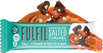 Fulfil Salted Caramel, reep van 55 g, pak van 15 stuks