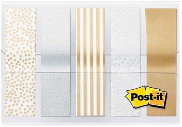 Post-it Index, Metallic Collection, ft 11,9 mm x 43,2mm, 5 x 20 stuks