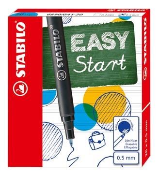 STABILO EASYoriginal rollervulling, medium, 0,5mm, doos van 20 stuks, blauw