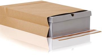 e-Green pochette à fond plat, ft 350 x 450 x 120 + 100 mm, boîte de 200 pièces