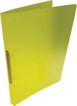 Alpha classeur à anneaux, pour ft A4, en PP, 2 anneaux de 16 mm, jaune tranparent