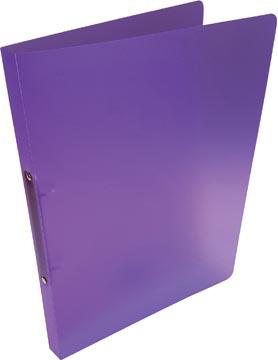 Alpha classeur à anneaux, pour ft A4, en PP, 2 anneaux de 16 mm, violet tranparent