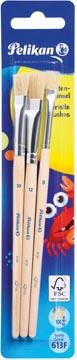 Pelikan penselenset S613F, blister van 3 stuks, nr 8, 10 en 12