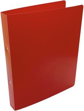 Alpha classeur à anneaux, pour ft A4, en PP, 2 anneaux de 25 mm, rouge