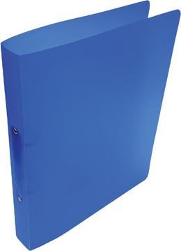 Alpha classeur à anneaux, pour ft A4, en PP, 2 anneaux de 25 mm, bleu tranparent