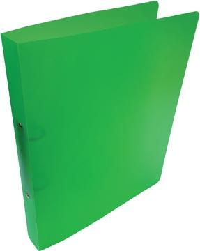 Alpha classeur à anneaux, pour ft A4, en PP, 2 anneaux de 25 mm, vert tranparent