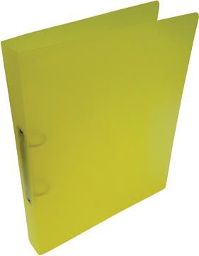 Alpha classeur à anneaux, pour ft A4, en PP, 2 anneaux de 25 mm, jaune tranparent