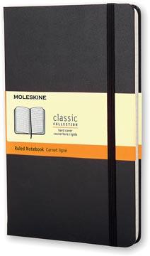 Moleskine notitieboek, ft 13 x 21 cm, gelijnd, harde cover, 240 bladzijden, zwart