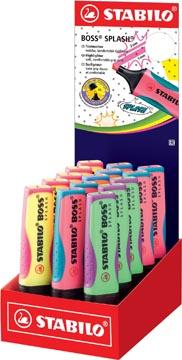 STABILO BOSS SPLASH surligneur, présentoir de 15 pièces in geassorteerde kleuren