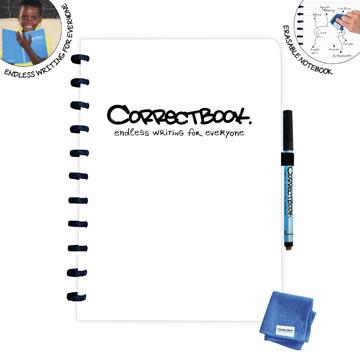 Correctbook A4 Original: uitwisbaar / herbruikbaar notitieboek, gelijnd, wit