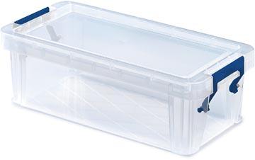 Bankers Box boîte de rangement pour crayons ProStore 1,3 litres, transparent, large