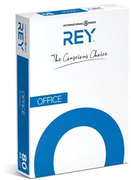 Rey Office Document papier d'impression avec 4 perforations ft A4, 80 g, paquet de 500 feuilles