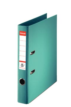 Esselte classeur à levier Power N°1 turquoise, dos de 5 cm