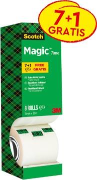 Scotch plakband Scotch Magic Tape value pack met 8 rollen waarvan 1 gratis