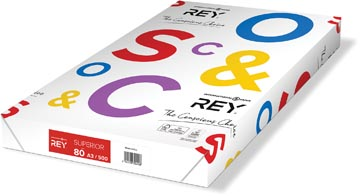 Rey Superior Document papier d'impression ft A3, 80 g, paquet de 500 feuilles