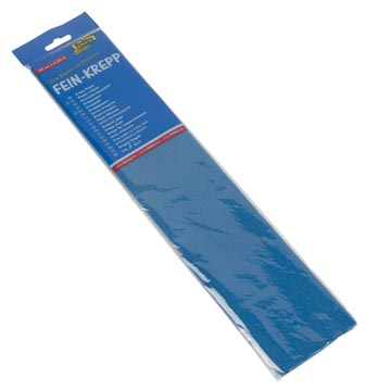 Folia papier crépon bleu intense