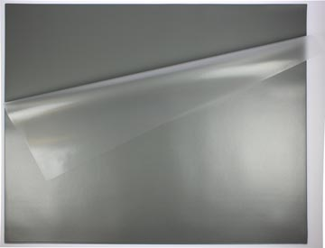 STAR sous-main avec couverture, gris