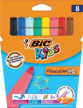 Bic Kids feutre Visacolor XL, 8 feutres en étui cartonné