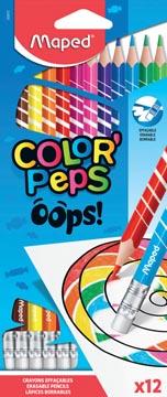 Maped crayon de couleur Color'Peps Oops, 12 crayons en étui cartonné