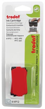 Trodat tampon encreur de rechange rouge, pour cachet 4912, blister de 2 pièces