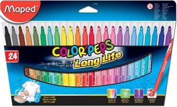 Maped Feutre Color'Peps, 24 feutres en étui cartonné