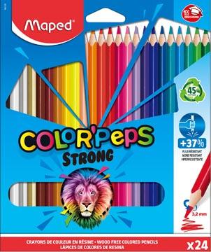 Maped crayon de couleur Color'Peps Strong, 24 crayons en étui cartonné