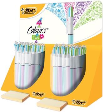 Bic balpen 4 Colours Fashion, display met 40 stuks