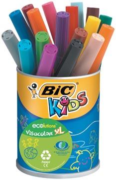 Bic Kids Feutre Visacolor XL Ecolutions, 18 feutres en pot métallique