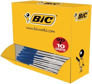 Bic stylo bille Cristal Medium, offre spéciale 90 + 10 gratuit, bleu