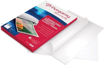 Pergamy pochette à plastifier, ft A4, 150 microns (2 x 75 microns), paquet de 100 pièces
