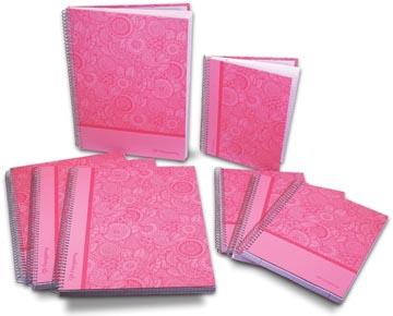 Pergamy Mandala notitieboek ft A5, gelijnd, roze
