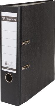 Pergamy classeur, pour ft A4, en carton, dos de 8 cm, marbré, noir