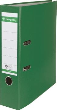 Pergamy classeur, pour ft A4, en carton recouvert de Plastique Recycolor, dos de 8 cm, vert