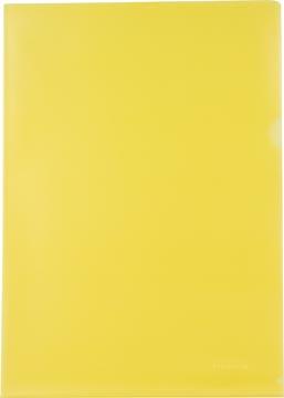 Pergamy L-map, ft A4, PP van 120 micron, pak van 25 stuks, geel