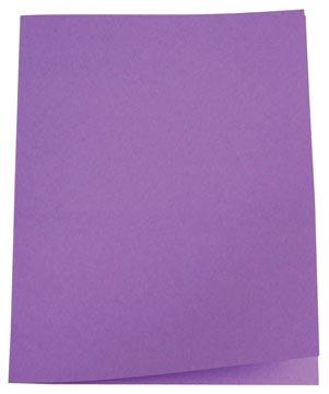 Pergamy dossiermap lila, pak van 100