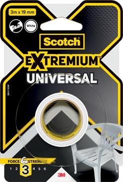 Scotch ruban de réparation Extremium Universal, ft 19 mm x 3 m, blanc