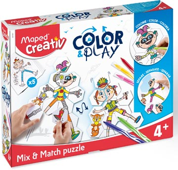 Maped Color&Play ontwerp je eigen spel, mix & match puzzel